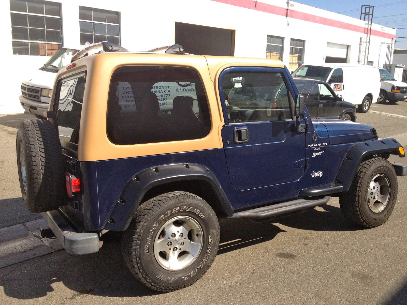 Hardtop Depot Quality Hardtop For Jeep Wrangler Tj 1997 2006